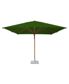 Levante Parasol 3.4m Forest Green - Square
