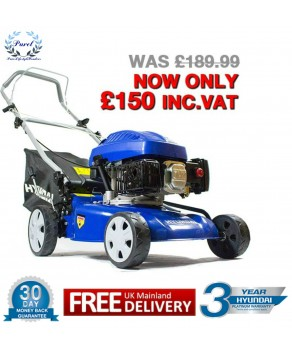 Garden Equipment - Hyundai HYM43P Petrol Powered Push Rotary Lawnmower