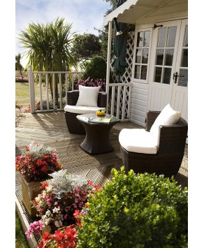Garden Furniture - Provence Vase Square Table and 2 Chairs Set