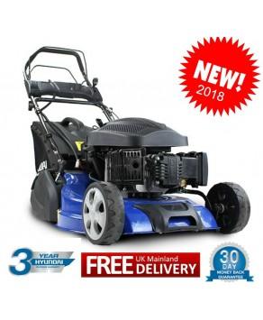Lawn Mower- Hyundai HYM510SPER Self Propelled Lawnmower Electric Push Button Start 173cc Petrol Roller Lawn Mower