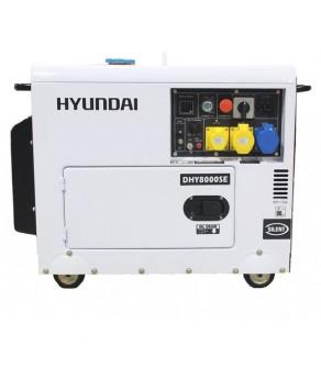 Garden Equipment - Hyundai 6kW 'Silent' Standby Diesel Generator DHY8000SE