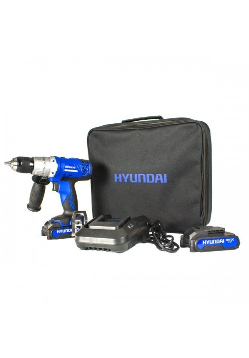 Garden Equipment -  Hyundai HY2155 Cordless 18V DC Combi Drill