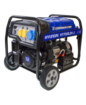 Garden Equipment - Hyundai HY7000LEK-2 5.5kW / 6.8kVa* Recoil & Electric Start Site Petrol Generator