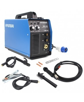 Garden Equipment - Hyundai HYMIG-180 180Amp MIG/MMA(ARC) Inverter Welder, 230V Single Phase
