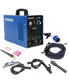 Garden Equipment - Hyundai HYTIG-200 200Amp TIG/MMA/ARC Inverter Welder, 230V Single Phase