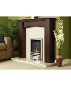 Designer Fire - Flavel FHKC37MN2 Kenilworth HE Hearth Mounted Contemporary Natural Gas Silver- MC