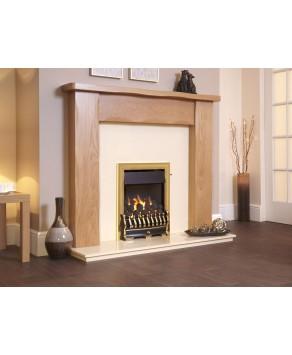 Designer Fire - Flavel FOPC12MN Richmond Plus HE Open Fronted Natural Gas Brass -MC