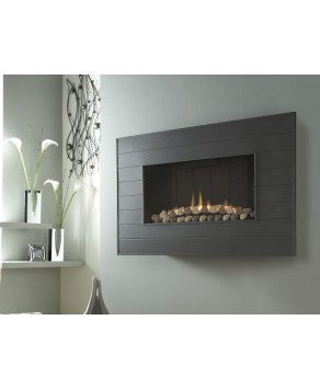 Designer Fire - Verine Marcello HE Balanced Flue Natural Fire with Wall Plate