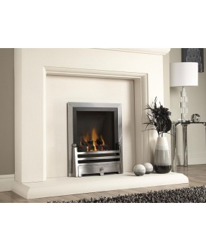 Designer Fire - Verine Quasar Powerflue Natural Gas Fire Touchlite Plain Back - Choose your Free MC Trim (Please Refer to Picture 3 & 4):  - Choose your Free Fret (Please Refer to Picture 2):  - Manual Control Designer Trim at 20% Discount: