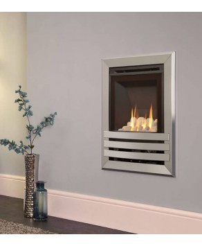 Flavel Windsor HE Open Fronted Contemporary Plus Wall Mounted Natural Gas Fire- Pebble