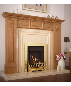 Flavel Windsor HE Open Fronted Traditional Plus Gas Fire- MC Brass