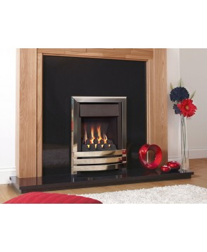 Flavel Windsor HE Open Fronted Contemporary Plus Gas Fire- MC Coal Silver