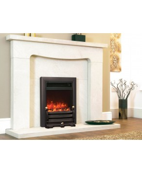 Designer Fire Electric - Celsi Traditional Insert Daisy Black 16''