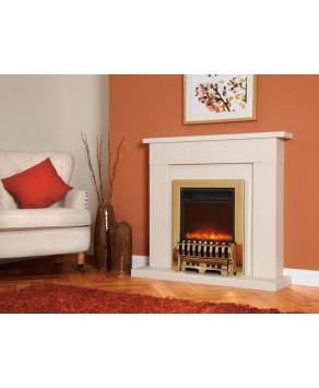 Designer Fire Electric - Celsi Traditional Insert Royal Brass 16''