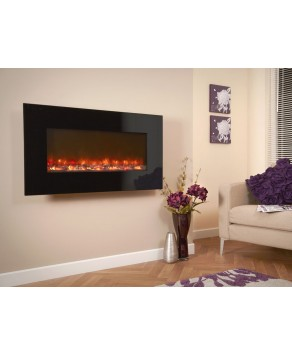 Designer Fire Electric -  Celsi Black Glass 1300