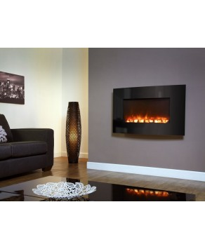 Designer Celsi Fire - XD Curved Black Glass