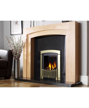 Designer Fire - Flavel FDRN46G Brass & Black Melody Gas Fire - SC