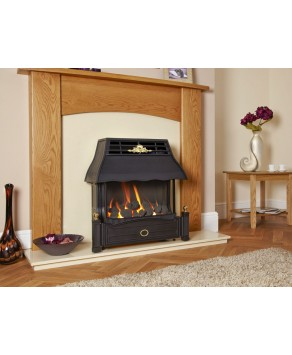 Designer Fire - Flavel FEMC00EN Black Emberglow Outset Gas Fire - EC
