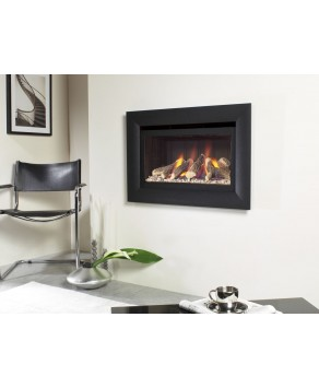 Designer Fire - Flavel FHCL02RN Black Jazz He Gas Fire - RC