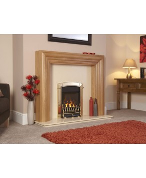 Designer Fire - Flavel FHEC11MN Brass Traditional Caress HE Gas Fire - MC