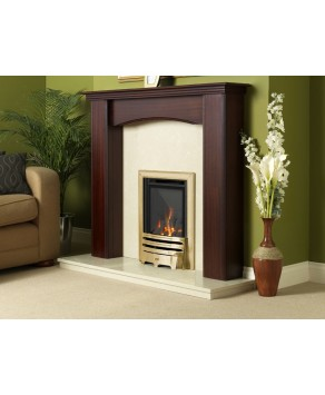 Designer Fire - Flavel FHKC1SRN3 Brass Contemporary Kenilworth HE Gas Fire - RC