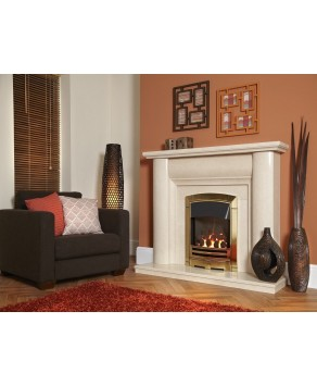 Designer Fire - Flavel FHKCDBRN3 Gold Decadence HE Gas Fire - RC