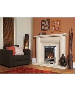 Designer Fire - Flavel FHKCDCRN3 Silver Decadence HE Gas Fire - RC
