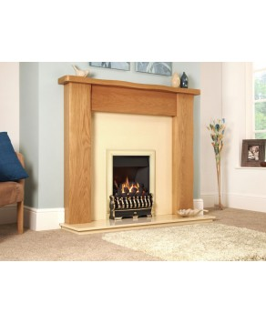 Designer Fire - Flavel FICC12MN Brass Richmond Gas Fire - MC