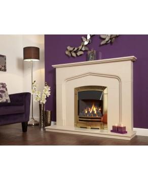 Designer Fire - Flavel FKPCDBSN Gold Decadence Plus Gas Fire - SC