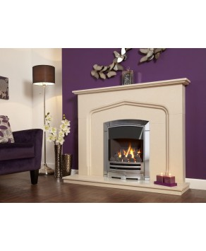 Designer Fire - Flavel FKPCDCMN Silver Decadence Plus Gas Fire - MC