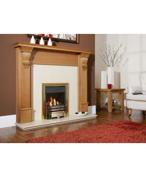 Designer Fire - Flavel FKPCOBMN Brass Opulence Plus Gas Fire - MC