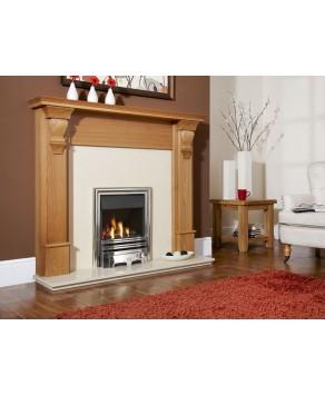 Designer Fire - Flavel FKPCOSMN Chrome Opulence Plus Gas Fire - MC