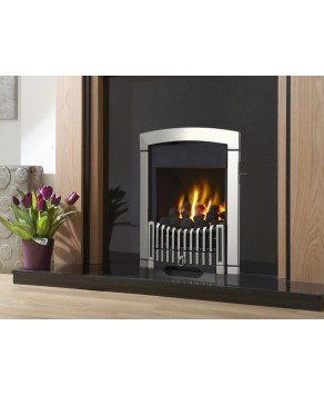 Designer Fire - Flavel FKPCSLSN Silver Rhapsody Plus Gas Fire - SC