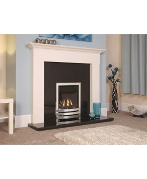 Designer Fire - Flavel FKPCU0MN Silver Coal Linear Plus Gas Fire - MC