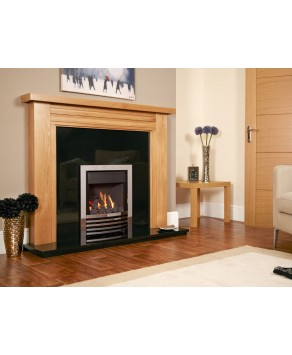 Designer Fire - Flavel FKPCEPRN Silver Expression Plus Gas Fire - RC