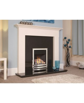 Designer Fire - Flavel FKPPU0MN Silver Pebble Linear Plus Gas Fire - MC