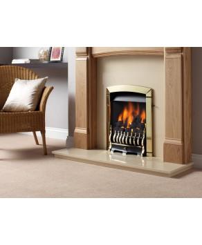 Designer Fire - Flavel FNCN42SN Brass Calypso Gas Fire - SC