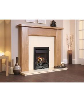 Designer Fire - Flavel FOPC23MN Black Richmond Plus Gas Fire - MC