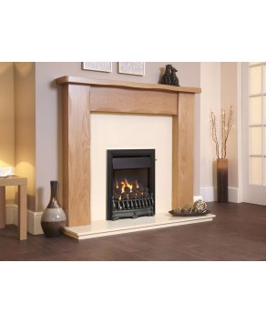 Designer Fire -  Flavel FOPC23RN2 Black Richmond Plus Gas Fire - RC