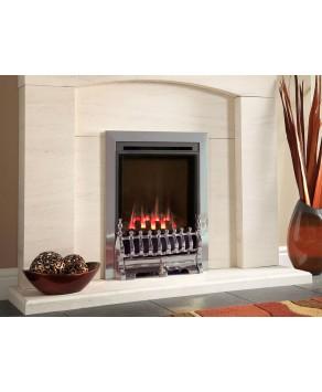 Designer Fire -  Flavel FSHC3JMN Silver Windsor Traditional HE Gas Fire-MC