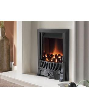 Designer Fire -  Flavel FVNC26MN Black Warwick Powerflue Gas Fire - MC