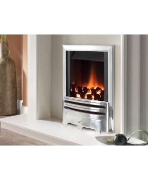 Designer Fire -  Flavel FVNC37MN Contemporary Silver Warwick Powerflue Gas Fire - MC