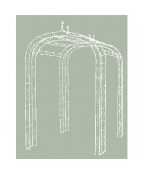 Garden Accessory - Fleur-de- Lys Tunnel Arch (Cream)