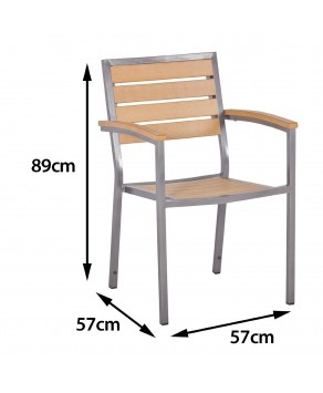 Garden Furniture - Sol Bistro Macchiato Stackable Chair