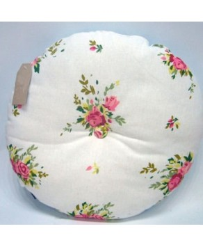 Garden Accessory - Cushion Cream with Rose