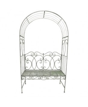 Garden Furniture - Heritage Bench Arbour (Antique Grey)