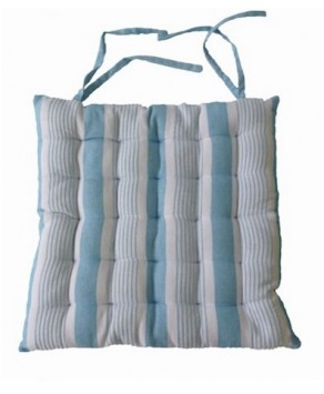 Garden Accessory - Square Cushion Blue Stripes