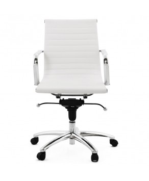 White Chrome Steel Office Chair