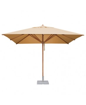 Levante Parasol 2.5m x 3.5m Khaki - Rectangle