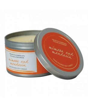 Aromatherapy - Small Candle Tin (Mimosa & Mandarin)